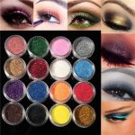 16 Colors Eye Shadow Glitter Powder Set Nail Art Decoration DIY Bling Party Show Shimmer Makeup