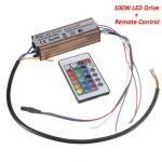 100W RGB LED Chip Light Lamp Driver Power Supply Waterproof IP66 With Remote Control