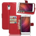 PU Leather Flip Magnetic Card-solt Wallet Stand Case For Xiaomi Redmi Note 4