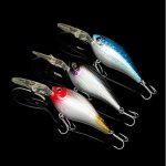 7cm Plastic Fishing Lures 17.5g Bass CrankBait with Hook Fishing Tackle