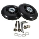 2pcs 80×26mm Luggage Suitcase Replacement Wheels Axles Repair Parts