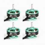 4X Racerstar Racing Edition 1103 BR1103 8000KV 1-2S Brushless Motor Green For 50 80 100 Multirotor