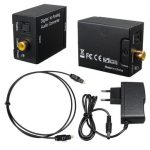 3.5mm Optical Coaxial Toslink Digital to Chic Audio Converter Adapter RCA L/R