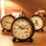Vintage Aralm Clock Table Desk Wall Clock Retro Rural Style Decorative Home Decor Clock