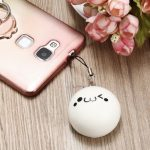 5 Pcs Cute Funny Steamed Buns Squishy Slow Rising Emoji Facial Look Keychain Keys Phone Ornament