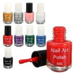 11 Colors 5ml Nail Art Stamping Polish for Template Printing Stamp