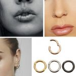 10mm Stainless Steel Hoop Ring Ear Lip Nose Septum Segment Body Jewelry