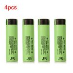 4pcs NCR18650B 3400mAH 3.7 V Unprotected Rechargeable Lithium Battery