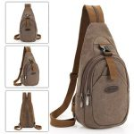 Men Canvas Leisure Crossbody Bag Outdoor Travel Hiking Multifunction Backpack
