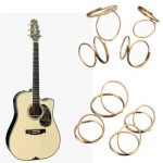 4PCS Guitar Bass Butterfly Fingerstyle Finger Picks Thumb Finger Protection Gold