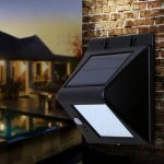 Solar Power Human Body Induction 20 LED Lamp Garden Balcony Patio Wall-mounted Light