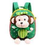 Kindergarten Kids Lovely Monkey Cartoon Animals Plush Backpack Soft Light School Bag