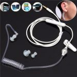 Spiral Acoustic Hollow Air Tube 3.5mm Anti-radiation Headphone Earphone with Mic