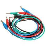 4pcs 1M 4mm Banana to Banana Plug Soft Silicone Test Cable Lead for Multimeter 4 Colors