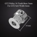 Anet GT2 Pulley 16 Teeth Bore 5MM Timing Gear Alumium For GT2 Belt Width 6MM 3D Printer Accessories