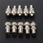 10pcs Male/Female TV Aerial RF Coaxial Cable Connectors Plug Adaptor