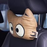 WenTongZi Cartoon Cat Headrest with Glowing Effect Car Front Seat Headrest Pillow