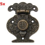 5Pcs Hasp Latch Antique Bronze Jewelry Wooden Box Mini Lock
