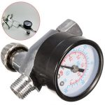 1/4 Inch Air Spray Gun Pressure Gauge Air Regulator