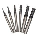 6pcs Nitrogen Coated 4 Flutes End Mill Cutter Straight Shank 1-6mm End Mill Cutter Set CNC Tool