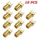 10Pcs 1.2mm SMA Female PCB Mount Straight RF Connector Plug
