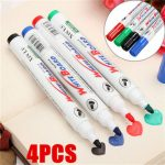 4 Color Set Whiteboard Marker Pens White Board Dry-Erase Marker Fine 2mm Nib