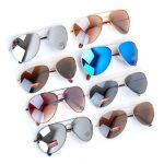 Men Women UV 400 Metal Frame Sunglasses Night Vision Polarized Anti-glare Sunglasses