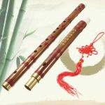 Handmade Traditional Chinese Musical Instrument D Key Bamboo Flute 61mm