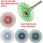 28pcs Radial Bristle Disc Brush Assortment 80/120/220/320/400/1000/2500 Grit