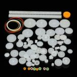 75 Kinds Shaft Single Double Reduction Crown Worm Gear Kit For DIY Robot