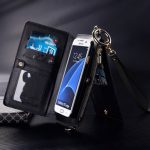 2-in-1 Separable Functional PU Wallet Case Cover With Shoulder Strap For Samsung Galaxy S7