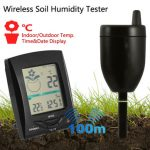 100m Wireless Transmission Soil Humidity Tester Multifunction Indoor Outdoor Temperature Meter Tool