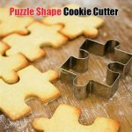 Stainless Steel Puzzle Shape Cookie Cutter Fondant Mold Cake Decorating Tool