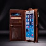 "For iPhone 6 6s 4.7"" 2 In 1 Multi-function PU Leather Detachable Zipper Wallet Kickstand Case"