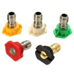 5pcs 3.5 GPM Spray Nozzles Tips High Pressure Washer Rotating Turbo Nozzle For Watering Tools