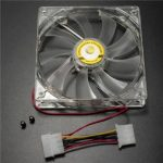 120mm Red Led 4 Pin Cooler Fan For Computer CPU Case Cooling Silent