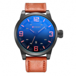 CURREN 8241 Fashion Men Quartz Watch Simple Large Number Display Sports Watch