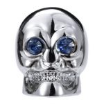 4pcs Motorcycle Auto Chrome Skull Tire Tyre Valve Caps Dust Covers