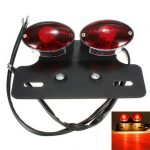 Motorcycle Tail Brake Light Indicator Rear Licence Plate Red Lamp