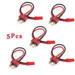5PCS Amass T Plug To JST Plug Male to Male Battery Adapter with 20AWG 10CM Cable