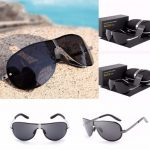 Unisex UV400 Polarized Polit Rimless Sunglasses Driving Outdoor Sports Glasses Eyewears