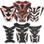 Motorcycle Sticker Tank Pad Decals Protector 3D Logo Night Light
