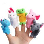 10Pcs a Set Baby Children Kids Plush Animal Finger Biological Puppets Play Learn Story Telling Tale Toys Dolls