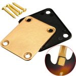 Guitar Neck Plate with 4 Screws Replacement Part for Fender Strat Electric Guitar