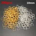 200pcs 10mm Jump Rings Open Connectors Circle Metal Findings DIY Accessories