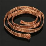 11mm×100cm Flat Copper Braided Wire Conductive Tape Braid Cable