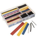 360Pcs Mixed Color Polyolefin 2:1 Halogen-Free Heat Shrink Tubing Sleeving with Box