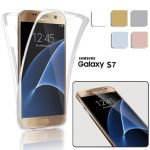 360 Front And Back Protective TPU Clear Case Cover For Samsung Galaxy S7