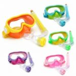 Children Professional Silicone Diving Goggles Set Glasses Mask Swimming Diving Snorkel Breathing Tub