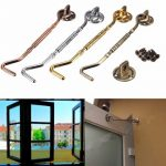 6 inch Zinc Alloy Window Cabin Hook Eye Catch Shed Gate Door Bolt Latch Windproof